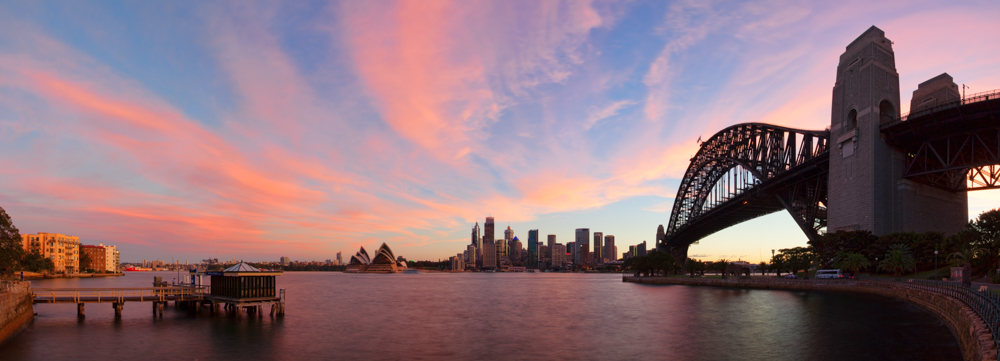 Sydney Harbour, City and Opera House
